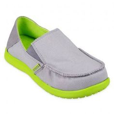 Crocs Santa Cruz Boys Loafer J (Light Green/Volt Green)