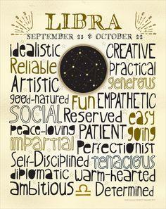 Zodiac - Libra - 11x14 Poster Art Print. $19.00, via Etsy.