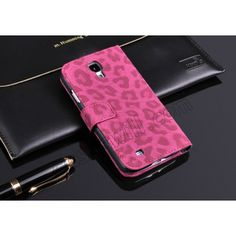 Leopard Skin Flip PU Leather Wallet Case with Card Slot for Samsung Galaxy S4 i9500 US$8.35