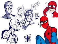 Spidey Doodles by Ritacutie.deviantart.com on @DeviantArt