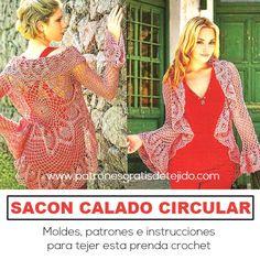 abrigo crochet con moldes e instrucciones