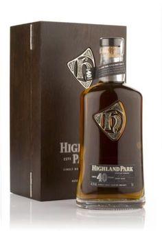 Highland Park 40 Year Old Single Malt Whisky Alcohol Bottles, Liquor Bottles, Scotch Whisky, Tequila, Bourbon, Barris, Spiritus, Cigars And Whiskey, Single Malt Whisky