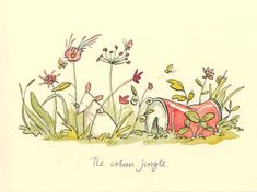 Anita Jeram Gifts and Cards Cute Drawings, Animal Drawings, Painting & Drawing, Watercolor Paintings, Anita Jeram, Penny Black Stamps, Rock Crafts, Children's Book Illustration, Whimsical Art
