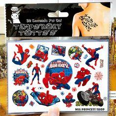 驚くべきスパイダーマン子少年一時的な入れ墨ボディーアートフラッシュタトゥーステッカー17*10センチ防水フェイクタトゥー車スタイリングウォールステッカー