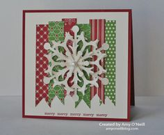 By Amy O'Neill #stampinup #christmascard #BeOfGoodCheerDSP