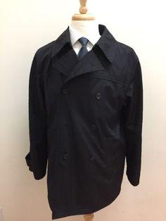 $348 Calvin Klein Men's Solid Black Luxury Fashion Peacoat Size LARGE | eBay