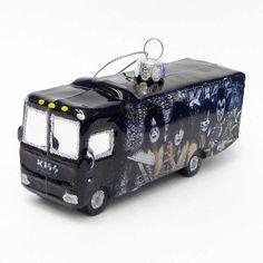 KISS Kurt Adler Glass Tour Bus Ornament