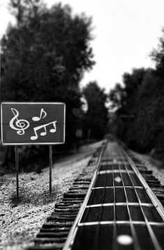 Music trails---this would be cool to make into a bulletin board.