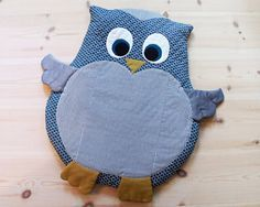 Owl mat for baby - Instant download sewing pattern This adorable baby mat is perfect for play, tummy time and nap time. It makes a perfect