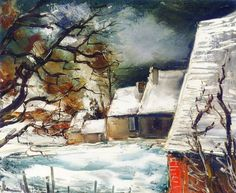 Maurice De Vlaminck (1876-1958) - A Hamlet in the Snow (sd)