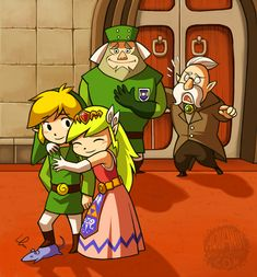 The Legend of Zelda: Spirit Tracks | Toon Link, Toon Princess Zelda, Guard Captain Russell, Teacher, and a Rat / my hero by aquanut on deviantART