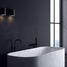 Carrera marble bath tub from Piet Boon by COCOON collection Rustic Bathroom Designs, Bathroom Design Luxury, Rustic Bathroom Decor, Bathroom Styling, Marble Bath, Carrara Marble, Black Bathroom Taps, Rustic Home Interiors, Large Bathrooms