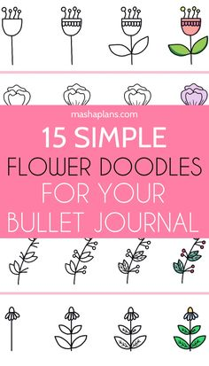 Learn simple step by step flower doodles you can start using to decorate your Bullet Journal today. Plus I create a hand-drawn page of different flower doodle ides you can use as a reference or print out and use them as stickers! Digital Bullet Journal, Bullet Journal Ideas Pages, Bullet Journals, Doodle Drawings, Easy Drawings, Doodle Doodle, Doodle Ideas, Doodle Designs, Flower Doodles