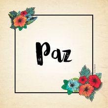 PAZ - Série Paz e Amor e Harmonia.