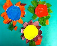 Deep Space Sparkle – Colorwheel Flower Art Lesson. Mixing primary colors into secondary colors. Have to do this!