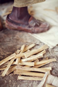 Bone shards from reusing old cow and camel bones from the butcher to make exquisite jewelry #shopsoko