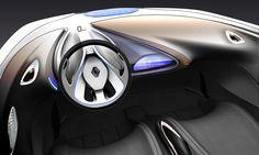 Renault R-Space Concept Interior Design Sketch