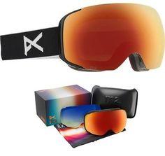 72de9777b905 Goggles and Sunglasses 21230  New Anon Burton M2 Black Red Mirror Mens Ski  Snowboard Goggles