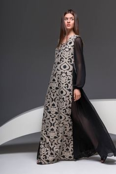 #anastasiiaivanova #fashion #designer #autumn #winter #fall #collection #dress #maxi #black #gold #evening
