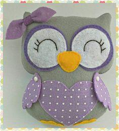 Owl Family Hanging Ornament, Set of Three Owls, Owls Hanging Decoration, Owls Wall Decoration, Handmade Home Decor Bird Crafts, Felt Crafts, Small Owl, Moon Decor, Owl Family, Baby Owls, Cute Owl, Handmade Felt, Hanging Ornaments