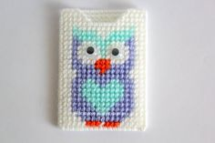 Owl credit card holdersmall pouchOwls card by Ricamoeplasticcanvas