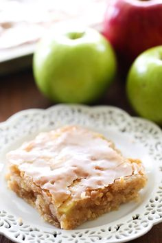 ~ Caramel Apple Sheet Cake… this delicious apple cake is perfectly moist and has caramel frosting infused in each and every bite! It is heavenly! This delicious apple cake is beyond moist and has caramel frosting infused in each and every bite. Sheet Cake Recipes, Apple Cake Recipes, Apple Desserts, Desserts To Make, Dessert Recipes, Sheet Cakes, Party Recipes, Frosting Recipes, Apple Cakes