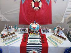 Mickey Mouse Nautical marinero table decoration