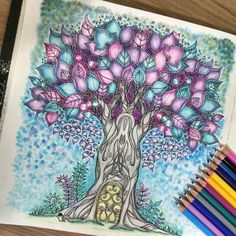 Any plans for the holidays or leisure time? How about colouring? Thanks to mariandoafora for this beautiful artwork! Use #mySTAEDTLER if you want to get featured! #STAEDTLER #coloring #colouring #coloringforadults #johannabasford #enchantedforest #colouringbook #tree