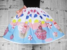 Katy Perry Costume, Tea party Dress, Skirt, Cup Cake skirt, ROOBY LANE, Womens Clothing