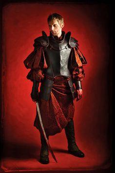 L'armure en cuir médiévale fantastique,Loïc, est disponible à la location.
