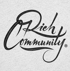 Typeverything.com Rich Community logotype by...