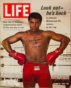 Life Magazine Nov 9 1970 Muhammad Ali on Cover Vietnam & Great Print Ads Old Magazines, Vintage Magazines, Vintage Books, Life Magazine, History Magazine, Muhammad Ali Boxing, Float Like A Butterfly, Life Cover, Sports Stars