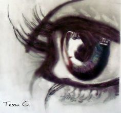 Color in Your Eye drawing by tgreenaway on Etsy