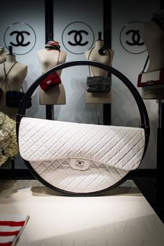 Chanel ~ White Quilted Leather 'Hula Hoop' Bag, Spring 2013