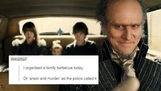 "A Series of Unfortunate Events  [The genius behind this tumblr, has been putting together Tumblr text posts with stills from the A Series Of Unfortunate Events film. ""A Series Of Unfortunate Events"" Mashed Up With Tumblr Posts Is The Realest Thing Ever]"