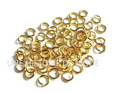 Lot de 100 Anneaux Ø5 mm en métal doré - anneaux ouverts pour création de bijoux