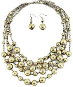 Antiqued Necklace with Earrings
