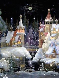 Зимняя сказка - анимация на телефон №1105956