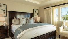 Elegant design for a coastal getaway.   BarclayButeraInteriors, InteriorDesign, Beach, Coast, Terranea, Bedroom