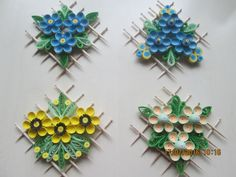 Quill flowers you love and make a mini collection display i can think of 12 so far Quilled Roses, Paper Quilling Flowers, Paper Quilling Patterns, Quilling Designs, Quilling Videos, Arte Quilling, Quilling Craft, Art N Craft, Craft Stick Crafts
