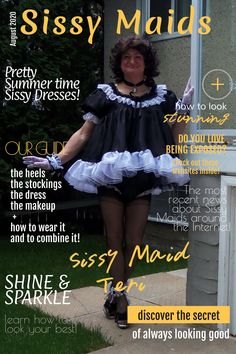 Prissy Sissy, Fashion Magazine Cover, French Maid, Sissy Maid, Recent News, Crossdressers, Captions, Summer Time, Stockings