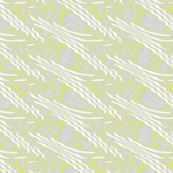 Chartreuse and White Ripples on Gray - missourah_gal - Spoonflower