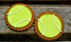 Ma Snax Bakery Iced Cookies: Gingerbread Tennis Balls  www.masnax.com