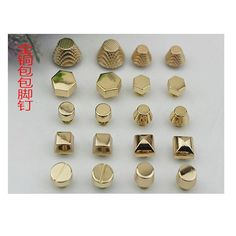 20pcs Metal light golden clothing/bags/shoes by kesterpurse