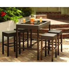 Elegant Hampton Bay Bar Height Patio Set