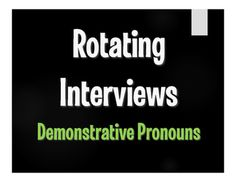 Rotating interviews are a great way to get kids moving, mixing, and speaking in Spanish!  Students are given 12 pointed questions and rotate through 12 partners, asking questions, responding, and recording what they find in the third person.I designed these activities to help students understand and practice interrogative structures.
