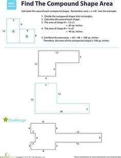 Printables Composite Figures Area Worksheet area of polygons worksheets free calculating the find compound shapes
