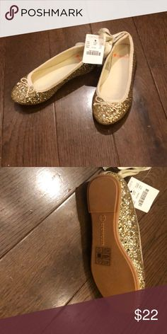 efbbb7119e66 crew gold slippers J.Crew Glitter gold slippers flats Brand new