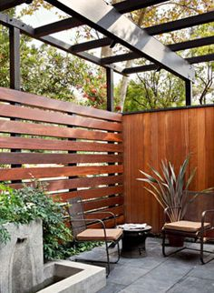 #concrete #wood #modern outdoor space