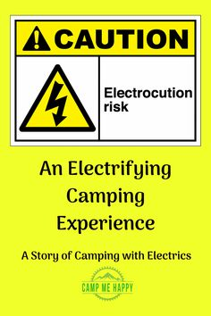 While we love using electrics while camping we thought we would share a story of the dangers too. This is what can happen when safety is not followed!